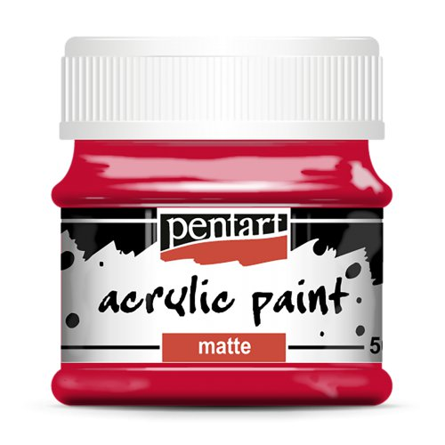 Akrylová barva matná 50 ml ČERVENÁ