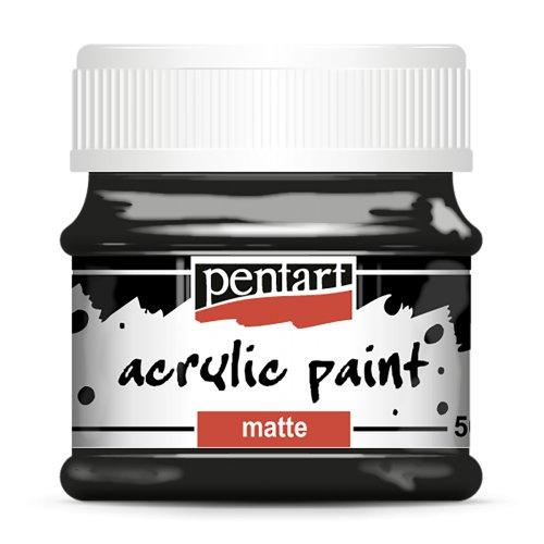 Akrylová barva matná 50 ml ČERNÁ