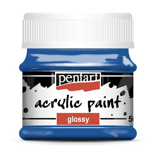 Akrylová barva lesklá 50 ml MODRÁ