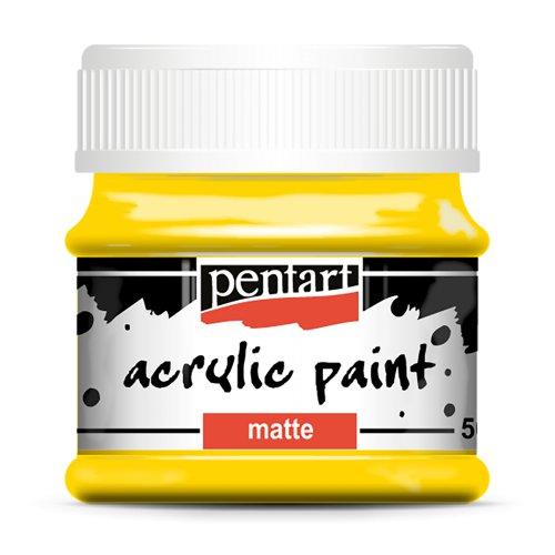 Akrylová barva matná 50 ml ŽLUTÁ