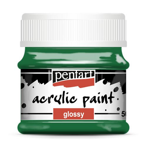 Akrylová barva lesklá 50 ml ZELENÁ