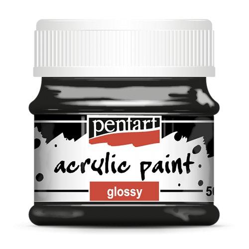 Akrylová barva lesklá 50 ml ČERNÁ