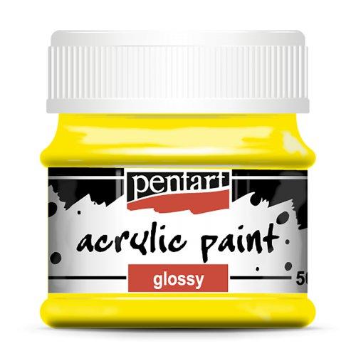 Akrylová barva lesklá 50 ml ŽLUTÁ