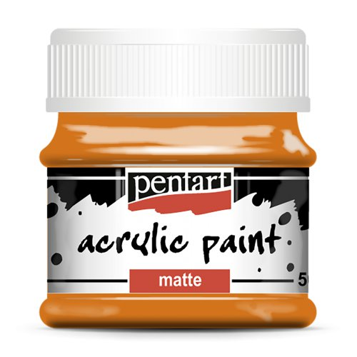 Akrylová barva matná 50 ml ORANŽOVÁ