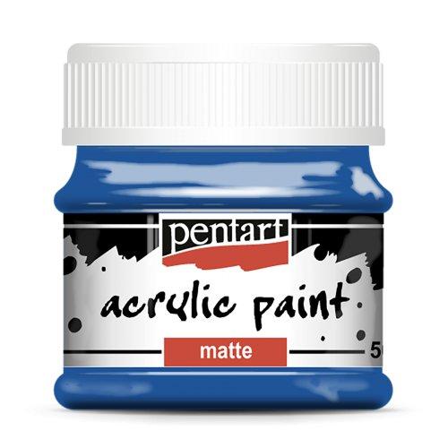 Akrylová barva matná 50 ml MODRÁ