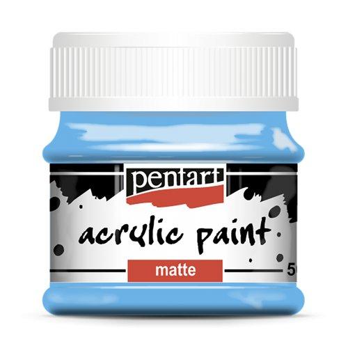 Akrylová barva matná 50 ml SVĚTLÁ MODRÁ