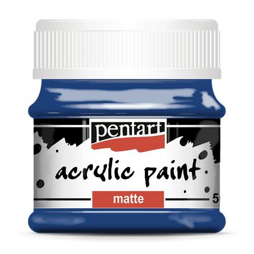 Akrylová barva matná 50 ml TMAVĚ MODRÁ