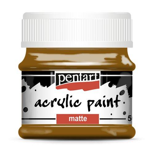 Akrylová barva matná 50 ml SVĚTLÁ HNĚDÁ