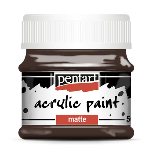 Akrylová barva matná 50 ml TMAVÁ HNĚDÁ