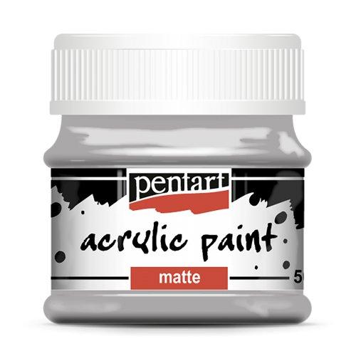 Akrylová barva matná 50 ml ŠEDÁ
