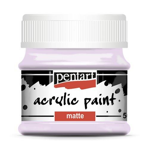 Akrylová barva matná 50 ml  PASTELOVÁ FIALOVÁ