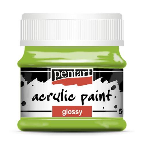 Akrylová barva lesklá 50 ml ZELENÁ JABLKO