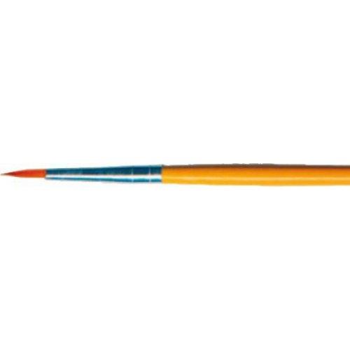 Profesionální štětec - Kulatý žlutý velikost 2