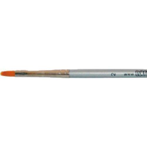 Profesionální štětec - Půlkulatý stříbrný velikost 2