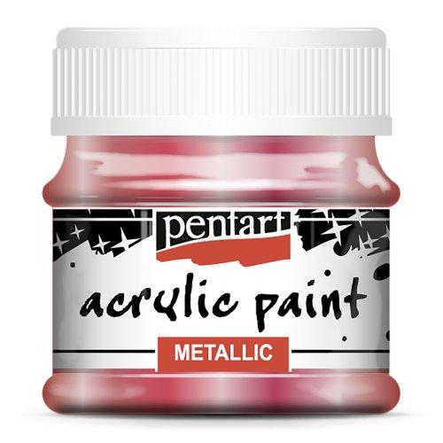 Akrylová barva metalická 50 ml ČERVENÁ MĚĎ