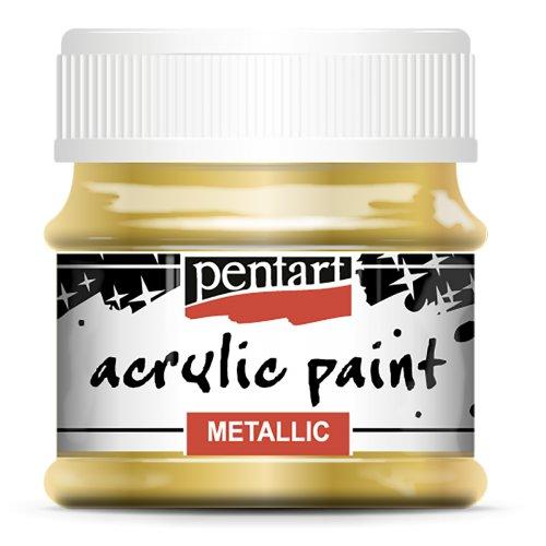 Akrylová barva metalická 50 ml ZLATÁ