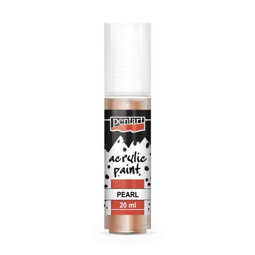 Akrylová barva perleťová 20 ml MERUŇKOVÁ