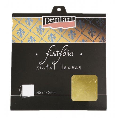 Metalická fólie 14 x 14 cm 5 listů ZLATÁ 1