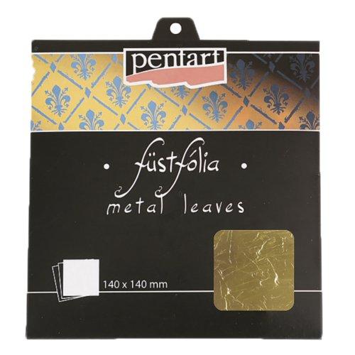 Metalická fólie 14 x 14 cm 5 listů ZLATÁ 2