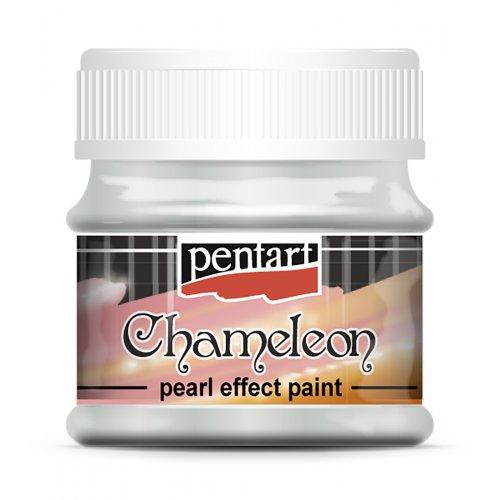 Chameleon perleťová akrylová barva 50 ml MODRÁ-BROSKOVÁ