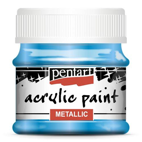 Akrylová barva metalická 50 ml MODRÁ