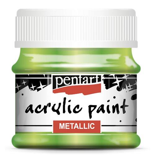 Akrylová barva metalická 50 ml SVĚTLÁ ZELENÁ