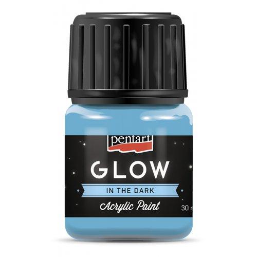 Akrylová barva svítící ve tmě 30 ml MODRÁ