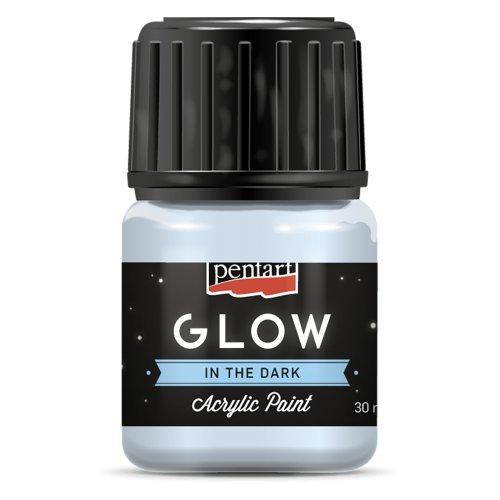 Akrylová barva svítící ve tmě 30 ml SVĚTLE MODRÁ