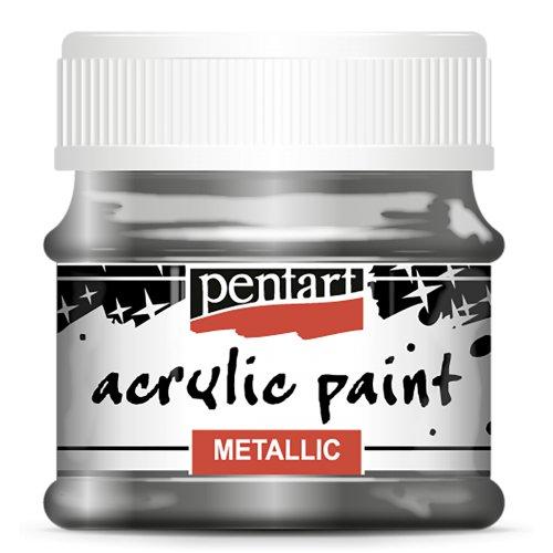 Akrylová barva metalická 50 ml GRAFITOVÁ