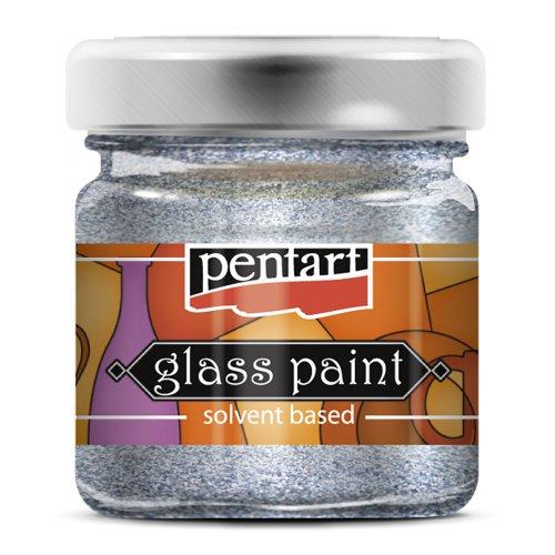 Barva na sklo vitrážová PENTART 30 ml TŘPYTIVÁ STŘÍBRNÁ