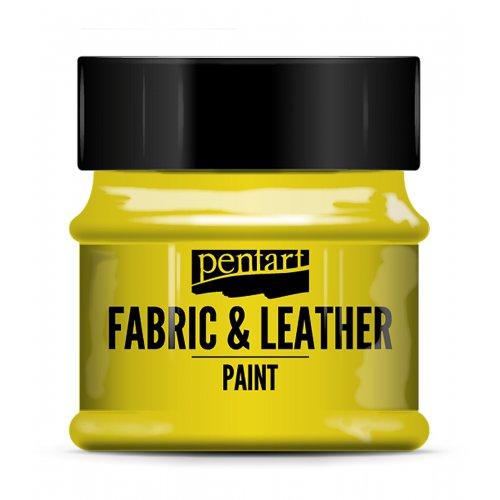 Barva na kůži a textil 50 ml ŽLUTÁ