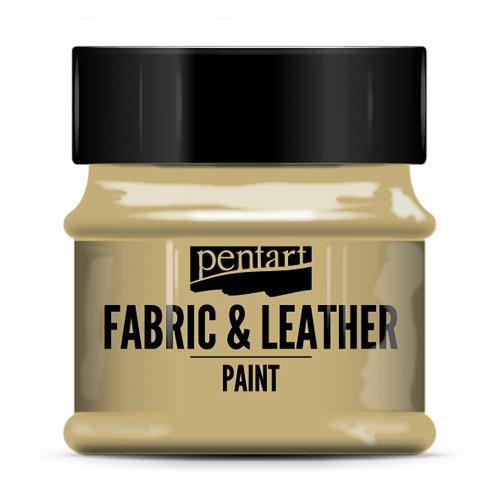 Barva na kůži a textil 50 ml SVĚTLE HNĚDÁ