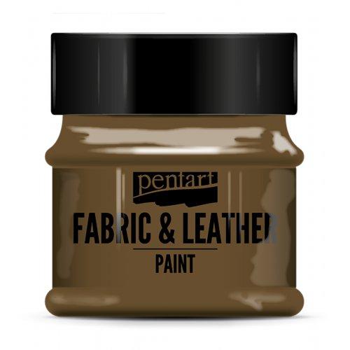 Barva na kůži a textil 50 ml TMAVĚ HNĚDÁ