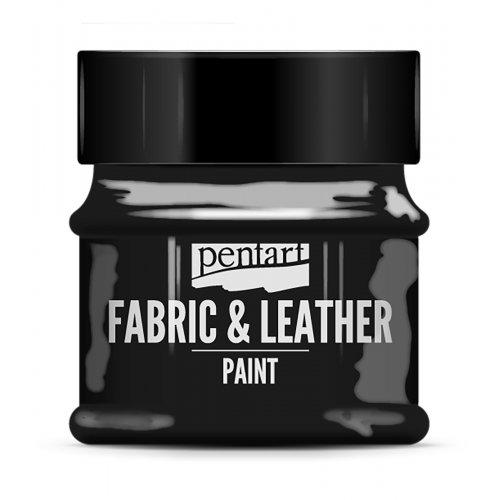 Barva na kůži a textil 50 ml ČERNÁ