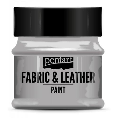 Barva na kůži a textil třpytivá 50 ml STŘÍBRNÁ