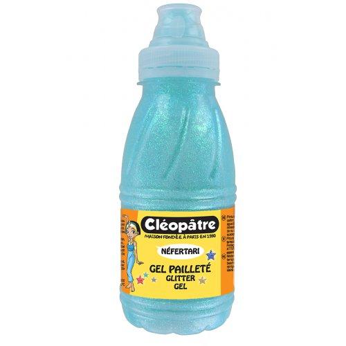 Třpytivý gel Cleopatre 250 ml LEDOVÁ MODRÁ