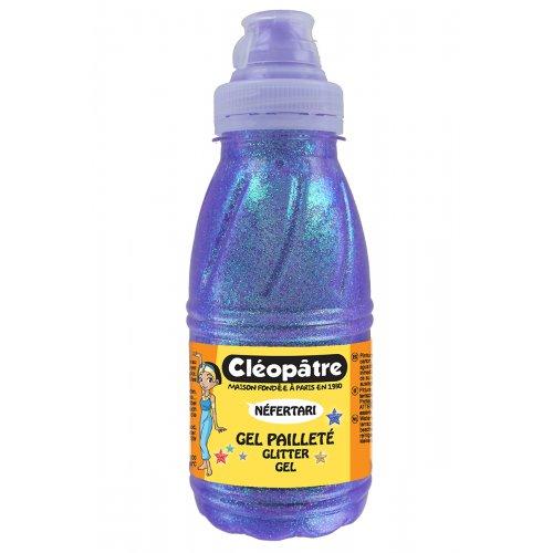 Třpytivý gel Cleopatre 250 ml LEDOVÁ LILA