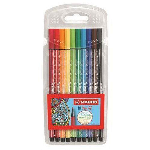 """Fixy """"Pen 68"""", 10 barev, 1mm, STABILO"""