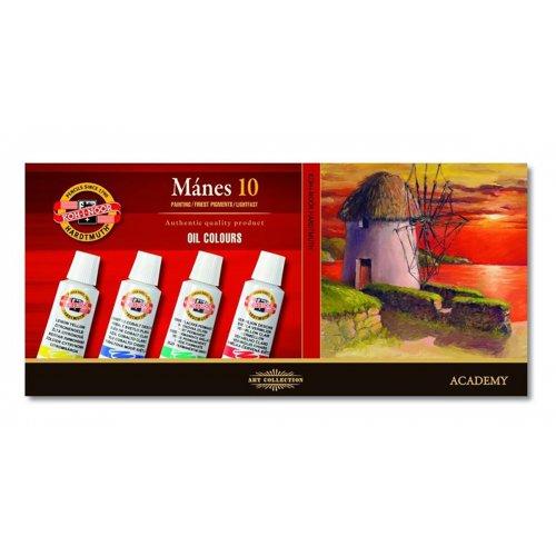 Sada olejových barev KOH-I-NOOR MÁNES 10x16 ml