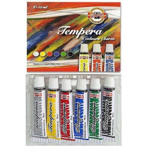 Sada temperových barev KOH-I-NOOR 6 odstínů 10ml