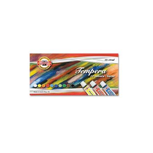 Sada temperových barev KOH-I-NOOR 10 odstínů 10ml