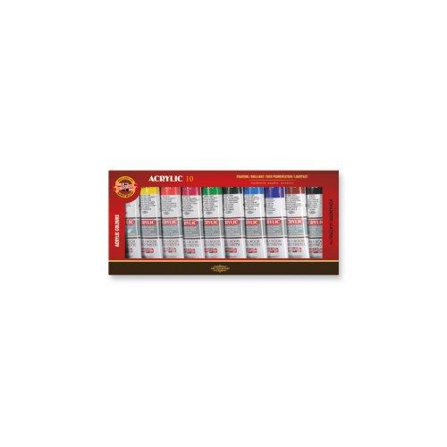 Sada akrylových barev KOH-I-NOOR 10 x 40 ml