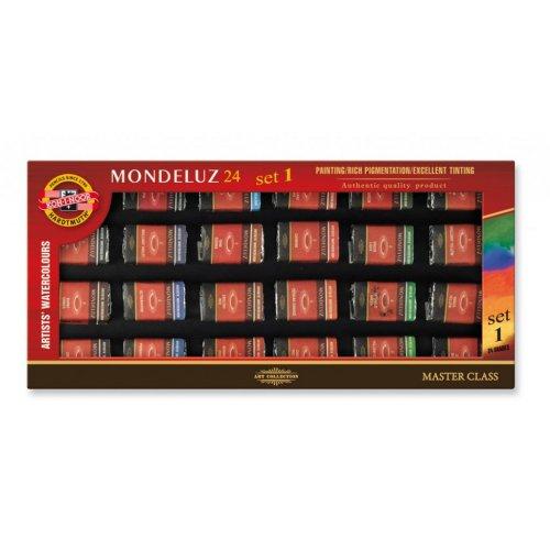 Sada akvarelových barev MONDELUZ KOH-I-NOOR 24 I