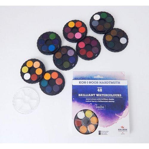 Barvy brilantní kulaté KOH-I-NOOR 48 barev