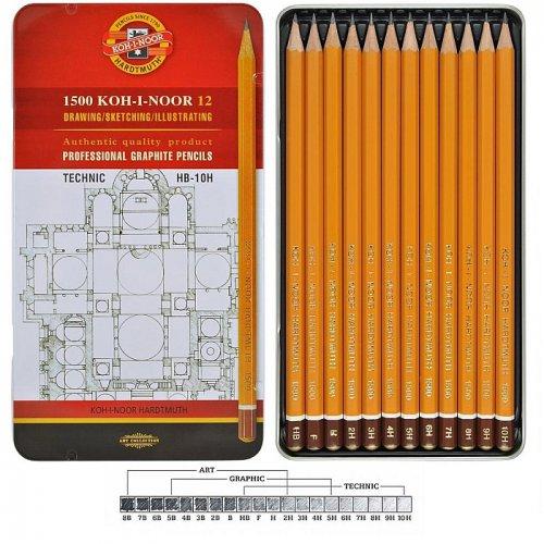 Sada tužek grafitových 1502 KOH-I-NOOR TECHNIC