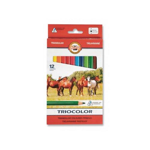 Sada pastelek KOH-I-NOOR trojhranné 12 odstínů