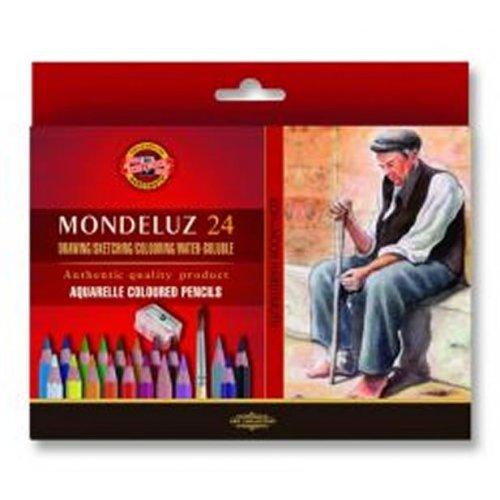 Pastelky akvarelové KOH-I-NOOR Mondeluz 24 ks