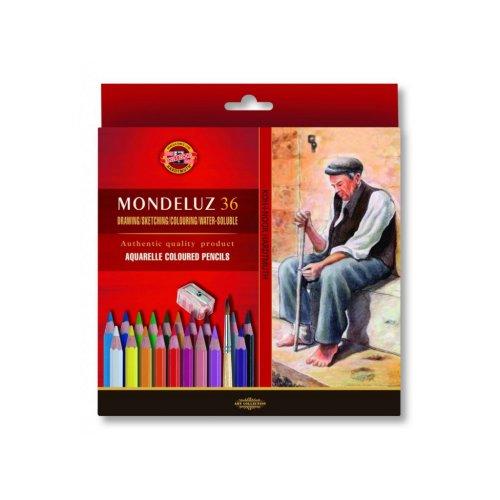 Pastelky akvarelové KOH-I-NOOR Mondeluz 36 ks