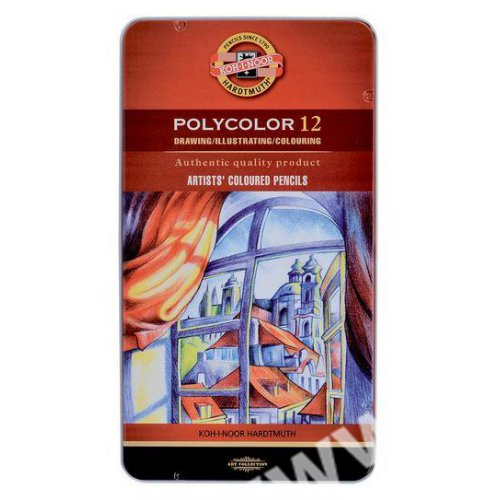 Pastelky umělecké KOH-I-NOOR POLYCOLOR 12 barev
