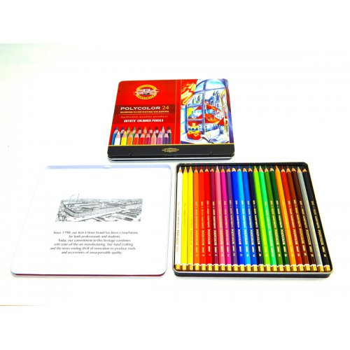 Pastelky umělecké KOH-I-NOOR POLYCOLOR 24 barev